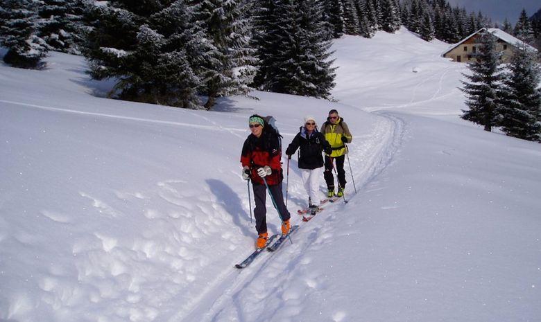Ski de randonné et balneo aux Combes des Aravis-6