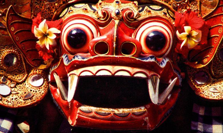 Masque du Barong à Ubud, lors d'une danse