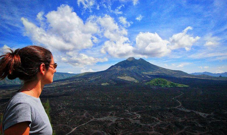 Vue sur l'ensemble de la caldeira du Mt Batur