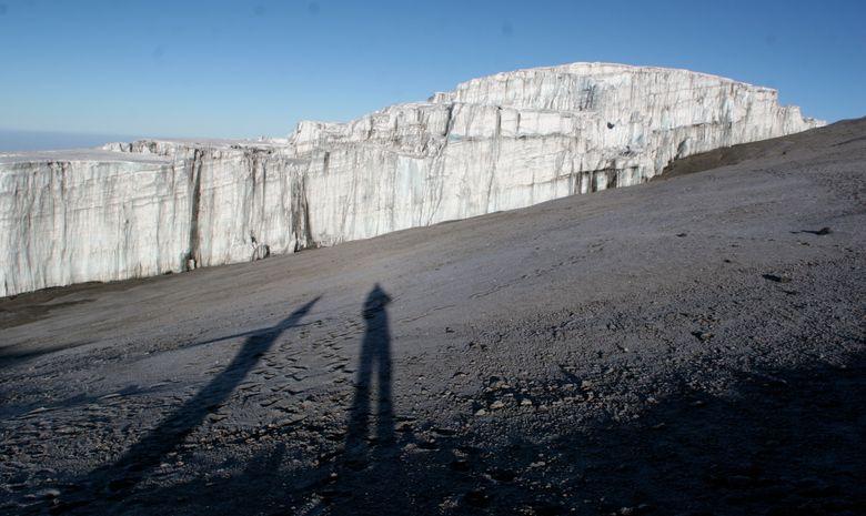 Glacier présent sur le Kilimandjaro