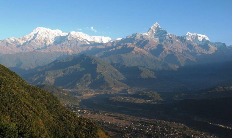 Panorama depuis Shanti Stupa