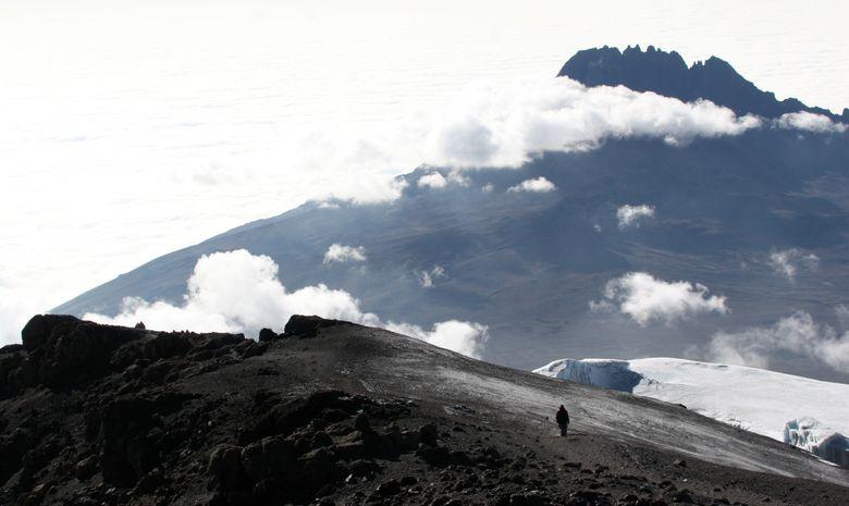 Vue sur le sommet du Kilimandjaro