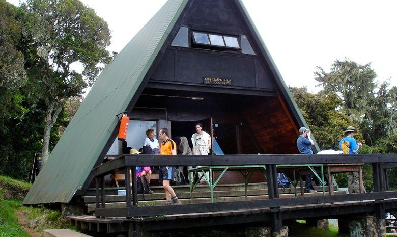 Trekkeurs en campement à Mandara Hut