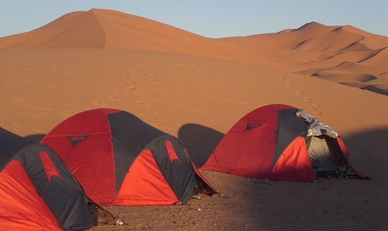 Bivouac au milieu des dunes