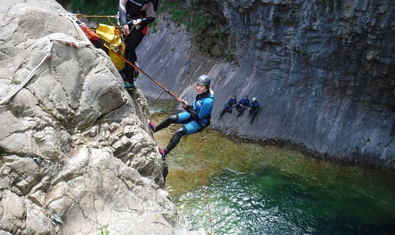 Les vasques bleues du Canyon Lugar Escuain-6