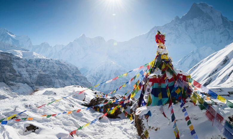 Trail sur la montagne de l'Annapurna-3