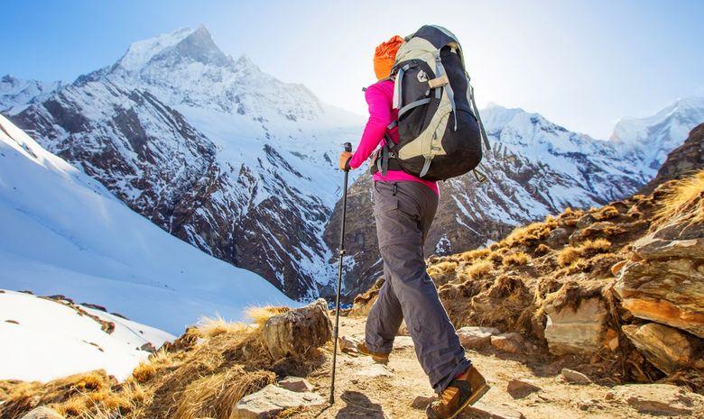 Trail sur la montagne de l'Annapurna-4