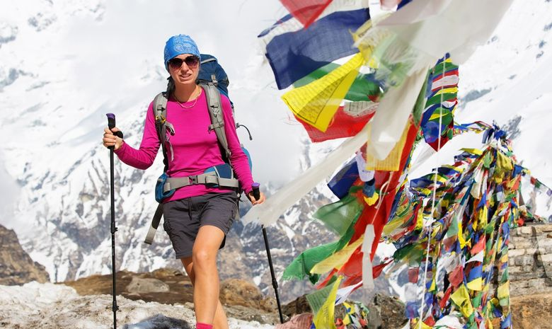 Trail sur la montagne de l'Annapurna-5