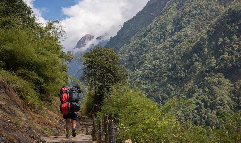 Trail sur la montagne de l'Annapurna-13