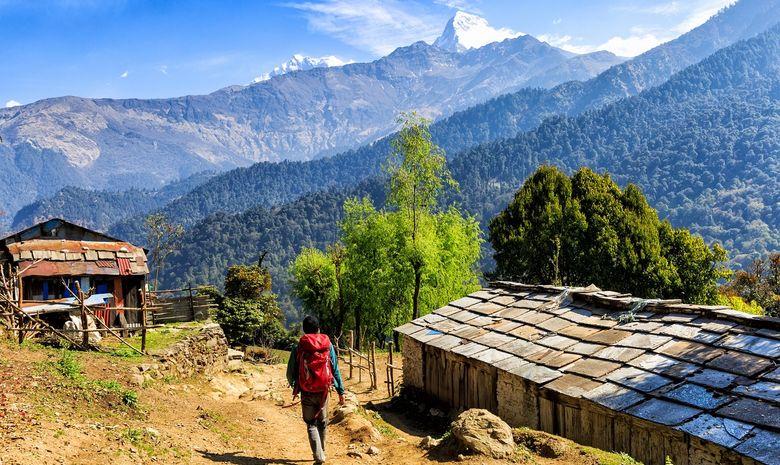 Trail sur la montagne de l'Annapurna-12