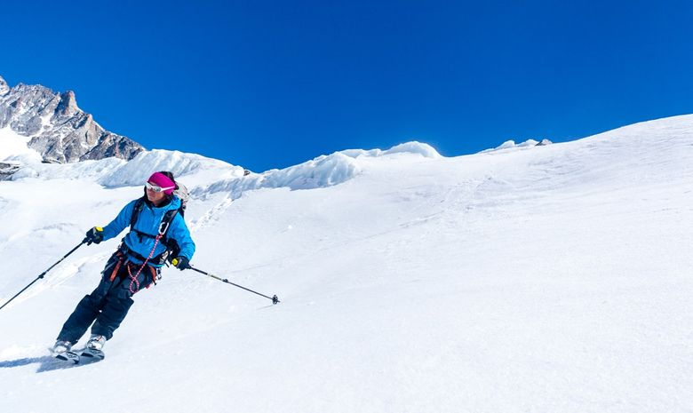 Freerando sur les glaciers de Chamonix-4