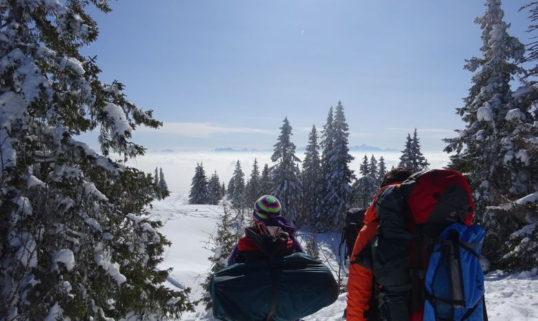 panorama ensoleillé sur les Hautes Tatras