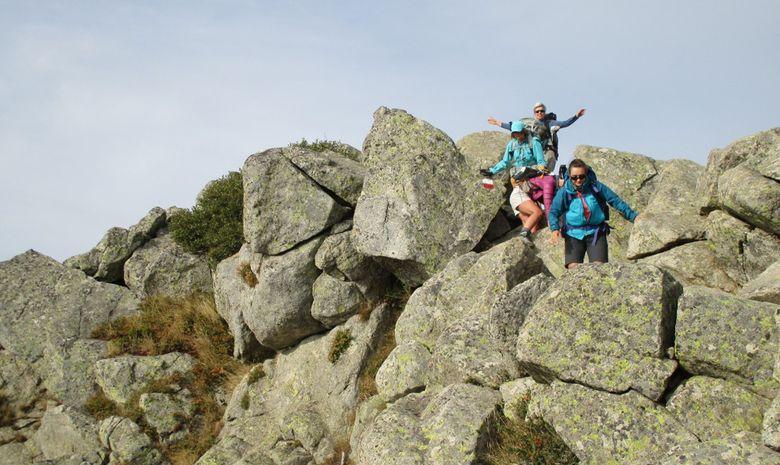 descente dans les rochers 3 personnes