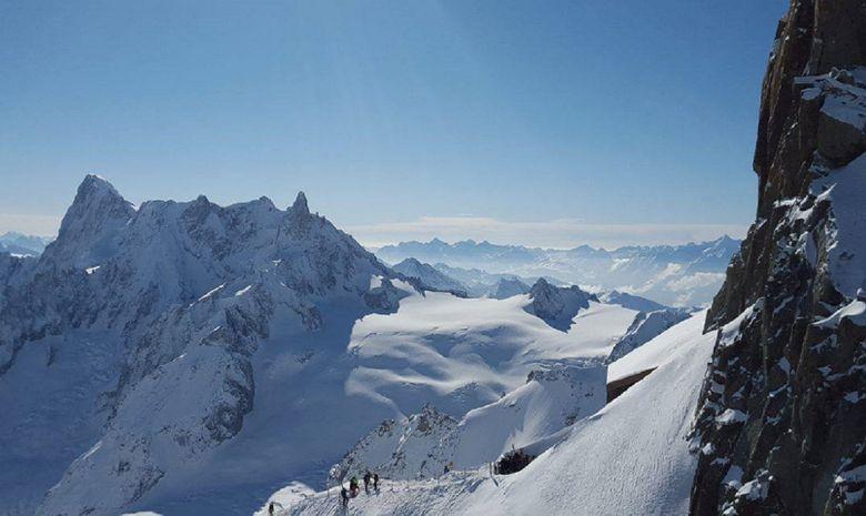 Vue aérienne alpes