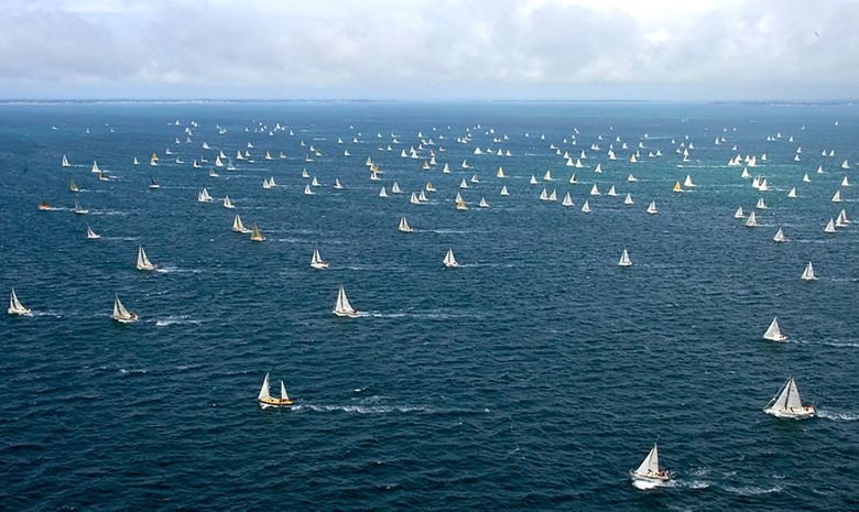 500 bateaux au départ du Tour de Belle-Ile
