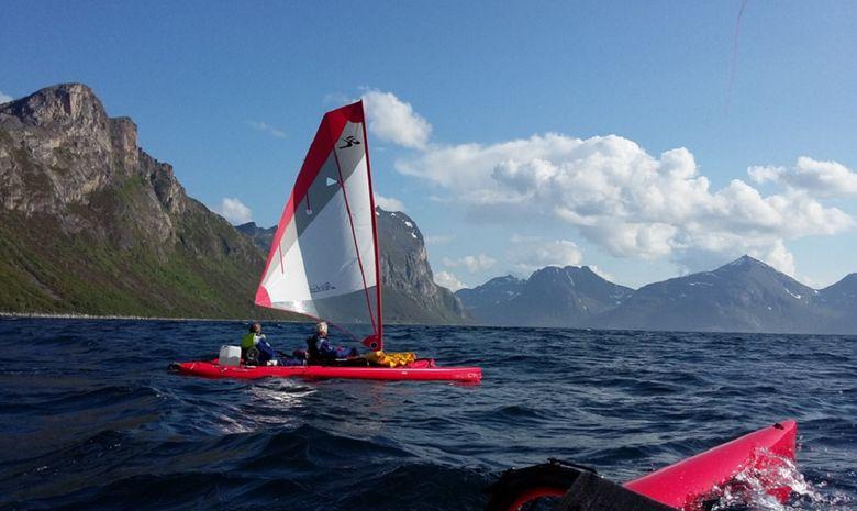 Trek en Kayak à voile, la côte sauvage du Troms-15
