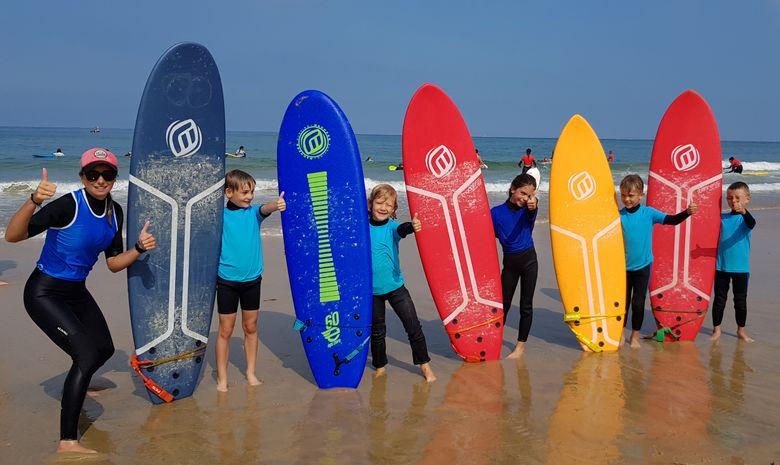 Stage de surf pour enfants (5 à 8 ans) à Capbreton