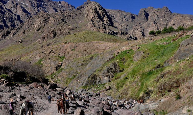 au pied du Col à 3000 mètres