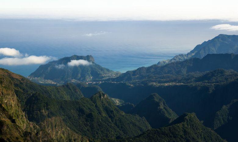 Vue du Pico do Arieiro et du Pico Ruivo