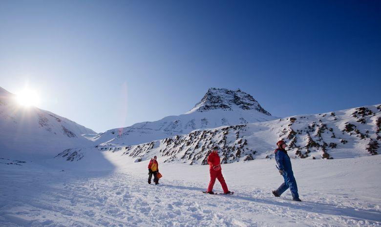 Randonnée en raquettes au Svalbard