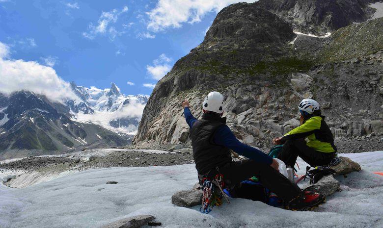 Découvrir l'alpinisme autour de la Mer de Glace