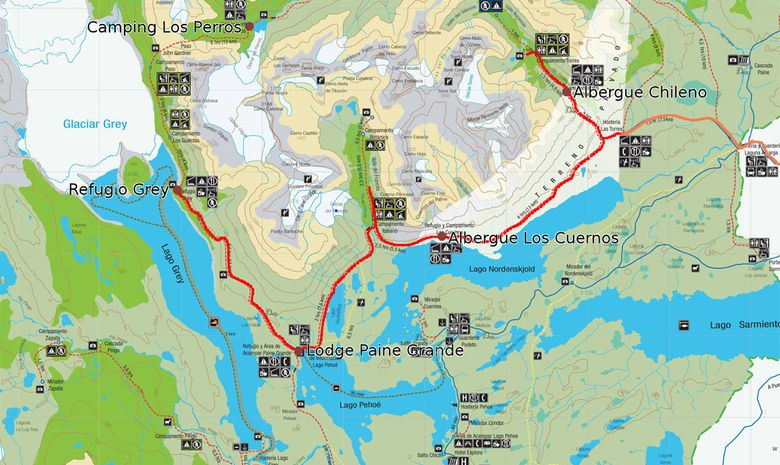 Région des Lacs et Parc Torres del Paine