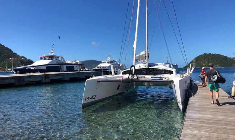 Stage de voile aux Antilles sur un catamaran TS 42