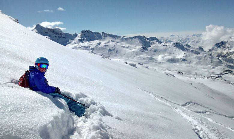 Objectif 100% poudreuse en freeride dans les Alpes
